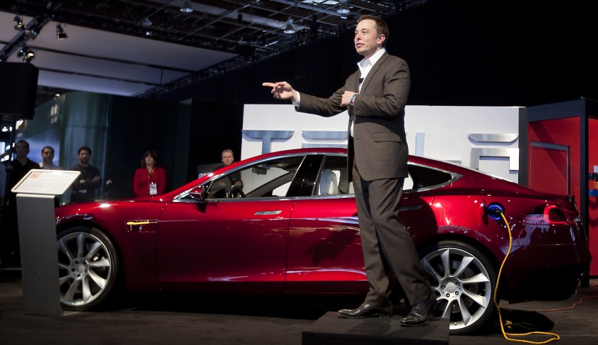 Elon Musk, PDG de Tesla Motors. Photographie : Daniel Acker/Bloomberg via Getty Images